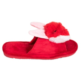 Bona Pantoufles lapin rouge