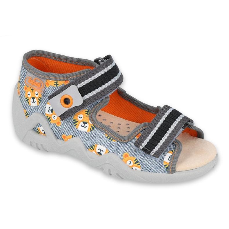 Chaussures enfants Befado jaune 350P016 gris multicolore