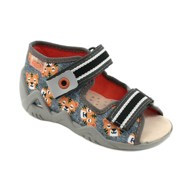Chaussures enfants Befado jaune 350P016 orange gris