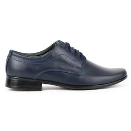 Lukas Chaussures de communion formelle enfant J1 bleu marine