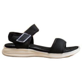 Evento Sandales confortables avec velcro noir
