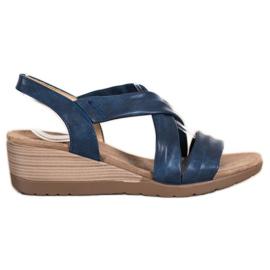 S. BARSKI Sandales compensées S.BARSKI bleu