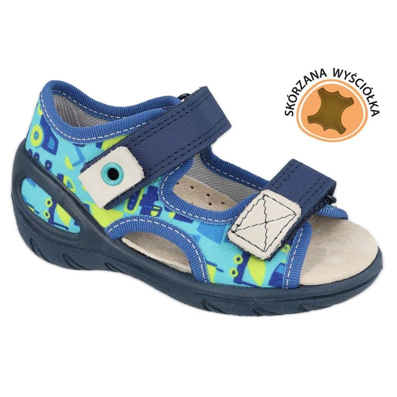 Befado chaussures pour enfants pu 065X156 bleu marin bleu vert