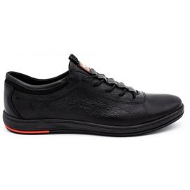 Polbut Chaussures casual en cuir pour hommes K23 noir