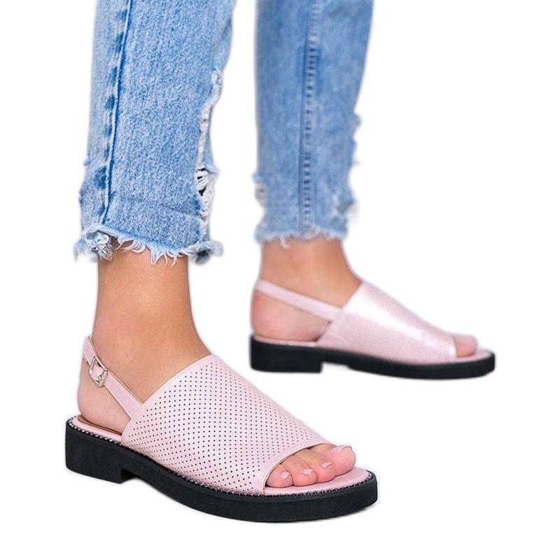 Sandales à talons plats roses de Betsy