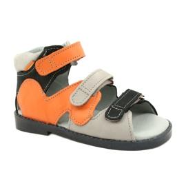 Sandales haute prophylactique Mazurek 291 gris orange
