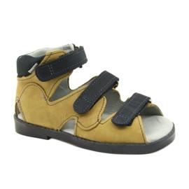 Sandales haute prophylactique Mazurek 291 gris orange jaune
