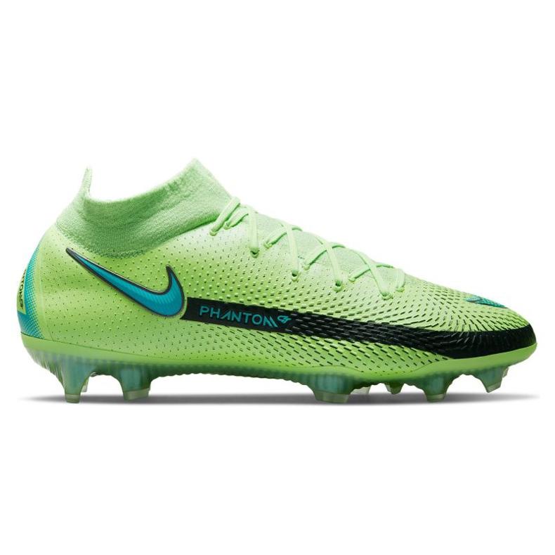 Chaussure de football Nike Phantom Gt Elite Dynamic Fit Fg M CW6589 303 multicolore vert