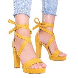 Sandales à lacets moutarde Ginny jaune