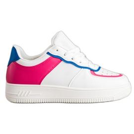 SHELOVET Chaussures de sport à la mode blanche