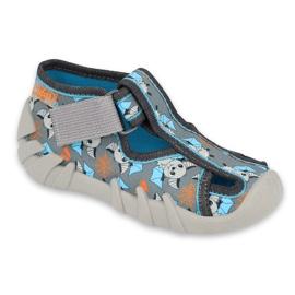 Chaussures enfant Befado 190P104 bleu gris