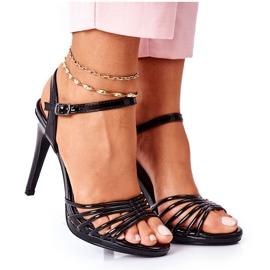 PW1 Sandales Laquées Sur Talon Katie Noir le noir