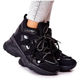 POTOCKI Chaussures compensées noires Hesane Sport le noir
