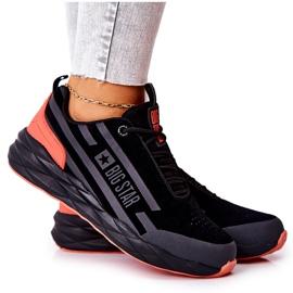 Chaussures de sport en cuir Big Star II274460 Noir le noir rouge