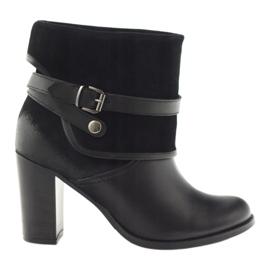 Chaussures noires pour femmes, chaussures d'hiver, noir Edeo 1754