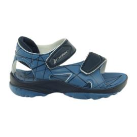 Sandales bleues chaussures velcro pour enfants pour l'eau Rider