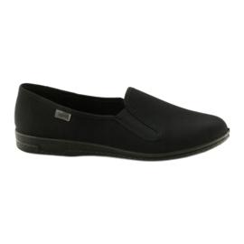 Chaussons à enfiler noirs Befado 001M060