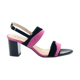 Sandales pour femmes Sagan 2687 noir fuchsia