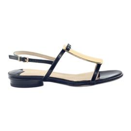 Sandales pour femmes en or avec décoration Sagan 2698
