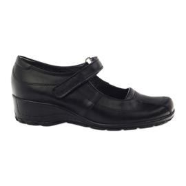 Chaussures à plateforme confortables Angello 371 noir
