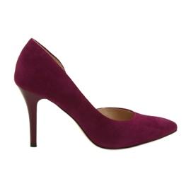 Chaussures Femme Daim Daim Anis Cerisier