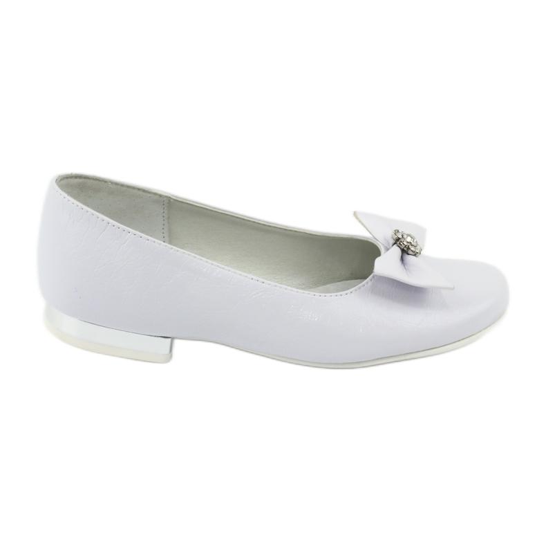 Escarpins ballerines de communion blanches Miko 800