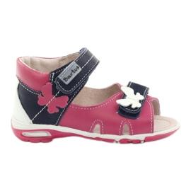 Sandales fille - papillon Bartuś rose