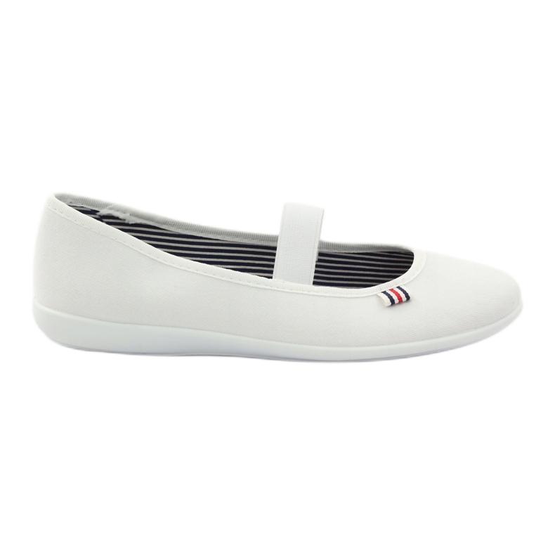 Baskets blanches pour femmes Befado 493Q003 blanc rouge multicolore