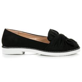 Vices Chaussures en daim à décor de paillettes noir