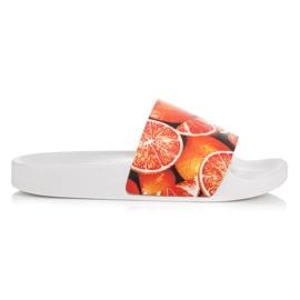 Vices Pantoufles aux agrumes orange