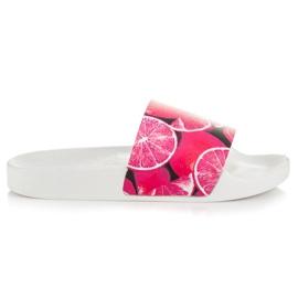 Vices Pantoufles aux agrumes rose