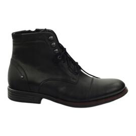 Noir Bottes d'hiver avec Pilpol 6009 zip black