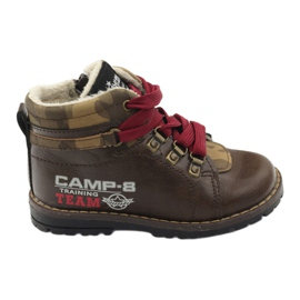 American Club brun Bottes chaussures à fermeture éclair 16221 marron