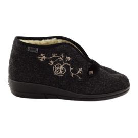 Befado, chaussures de ville, chaussons avec fourrure 031d028 gris