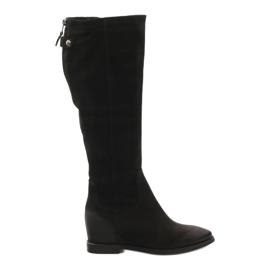 Noir Bottes avec zip décoratif Edeo 3138