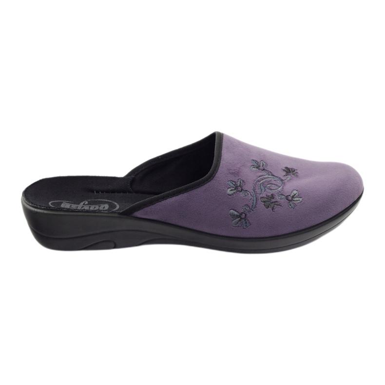 Befado, chaussures de ville, chaussons 552D006 pourpre multicolore