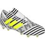 Chaussures de foot adidas Nemeziz 17.1 Fg M BB6075 blanc, noir blanc
