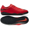 Chaussures d'intérieur Nike HypervenomX Phelon Iii rouge