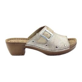 Clip pantoufles INBLU BL061 argent beige
