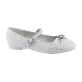 Blanc Ballerines Communion zircones American Club 12/19