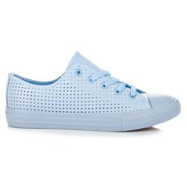 Kylie Sneakers ajourées à la reliure bleu