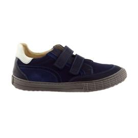 Chaussures pour garçons, velcro Bartuś, bleu marine