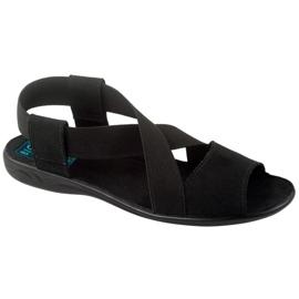 Sandales confortables pour femmes noires Adanex 17498 le noir