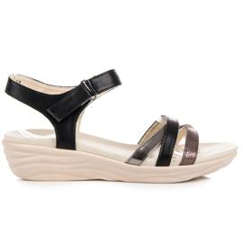Kylie noir Sandales avec velcro