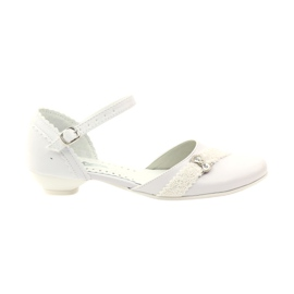 Ballerines de courtoisie Communion Miko 714 blanc