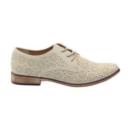 Sergio Leone Chaussures pour femmes aux fleurs élégantes brun
