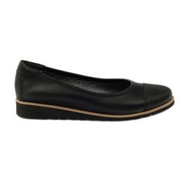 Chaussures mocassin en cuir Angello 1325 noir
