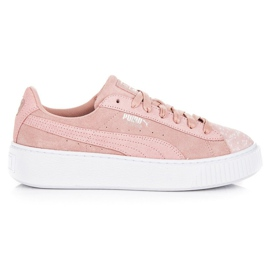 Rose Puma Suede Platform Pebble WN`S