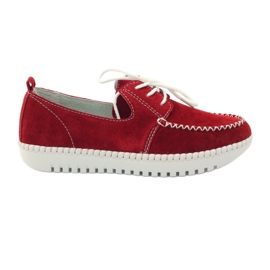 Rouge Chaussures en cuir Creepersy Filippo 020