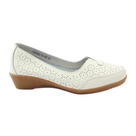 Chaussures en cuir Mocassins Vinceza blanc
